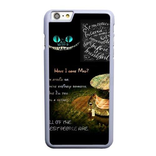 Coque,Apple Coque iphone 6 6S plus (5.5 pouce) Case Coque, Generic Alice In Wonderland Cover Case Cover for Coque iphone 6 6S plus (5.5 pouce) blanc Hard Plastic Phone Case Cover