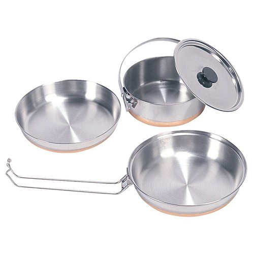 Stansport 360 Stainless Steel Mess Kit for Camping, Backpacking and Outdoors
