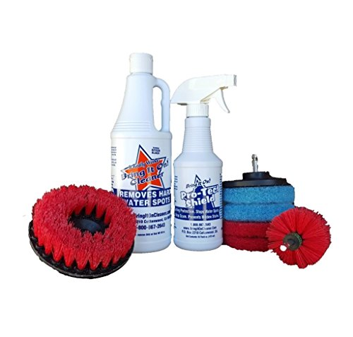 Water Spot Remover and Sealant Kit Plus Drill Brushes and Pads, Drill Scrub Brushes, Cleaning Brush For Drill, Drill Brush Attachment