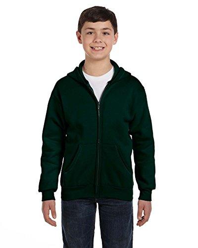 Hanes ComfortBlend EcoSmart Full-Zip Kids' Hoodie Sweatshirt P480 Deep Forest M]()