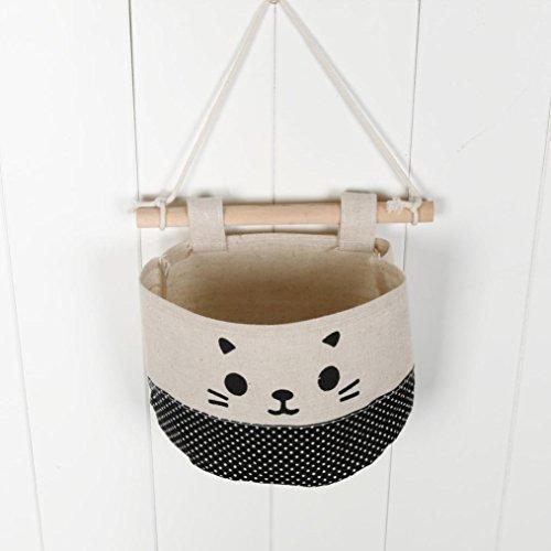 Boomboom Storage Bag, New Cotton Cartoon Cat Hanging Storage Wall Door Storage Decoration (A) by Boomboom (Image #1)