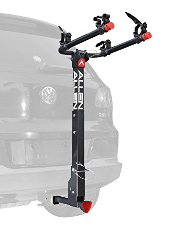 Allen Sports Deluxe Locking Quick Release 2-Bike Carrier for 2 in. & 1 4 in. (2 Bike Hitch Rack)