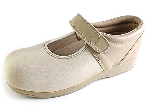 Pedors Womens Mary Jane Beige Neoprene Flats 9 B(M) US (Pedors Shoes)
