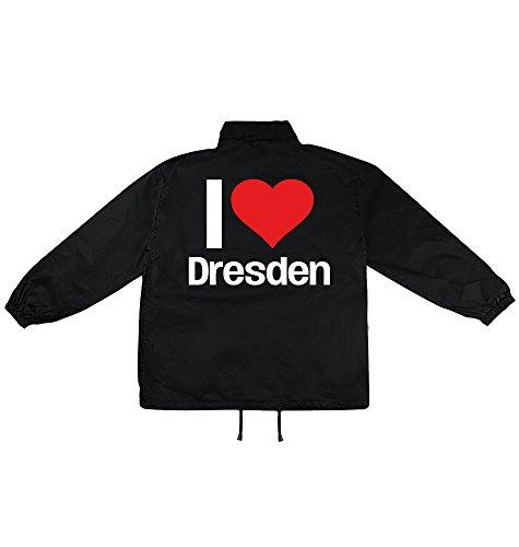 i love Dresden Motiv auf Windbreaker, Jacke, Regenjacke, Übergangsjacke, stylisches Modeaccessoire für HERREN, viele Sprüche und Designs