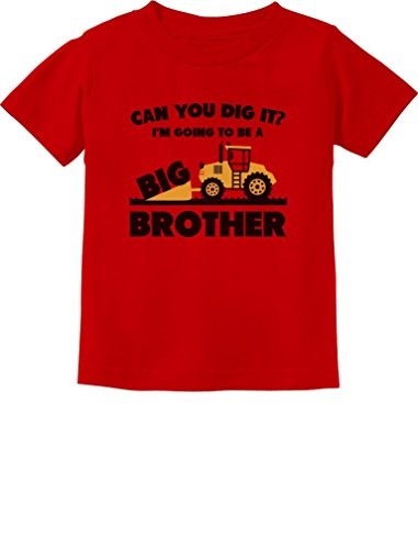 Brother Kids T-shirt - Going to Be A Big Brother Gift for Tractor Loving Boys Toddler/Infant Kids T-Shirt 4T Red