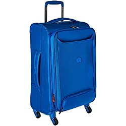 """Delsey Luggage Chatillon 21"""" Carry-on Exp Spinner Trolley, Blue"""
