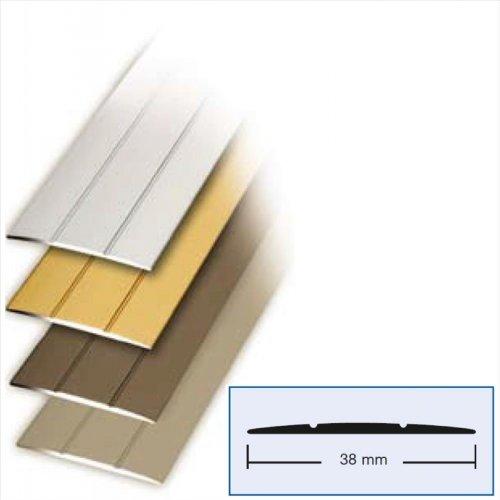 Bodenprofil Übergangsprofil 100x3,8 cm in Alu Edelstahl Optik