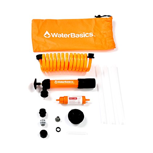 WaterBasics Emergency Pump and Water Filter Kit. (RED-II-120)