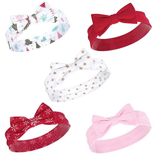 - Hudson Baby Baby Girls' Cotton Headbands, Sparkle Trees 5 Pk, 0-24 Months
