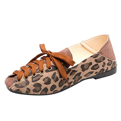 Summer and Autumn Square Head Flat Shoes Female Shallow Mouth Lazy Shoes,Outsta 2019 Deals! Fashion Shoes Beige