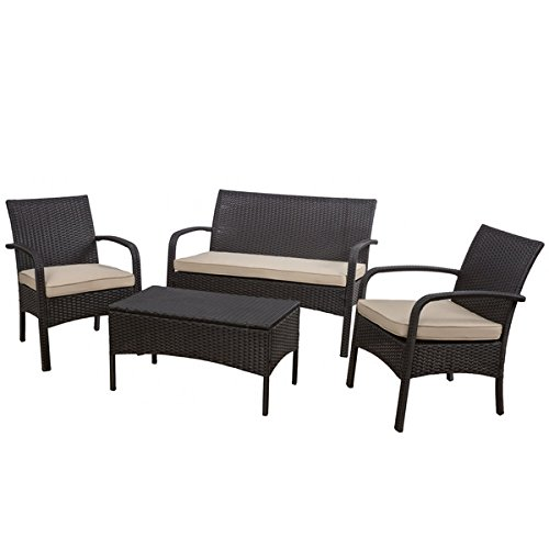 Christopher Knight Home Cordoba Outdoor 4-piece Wicker Chat ...