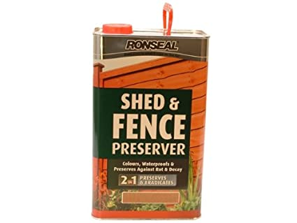 Ronseal Sfwpg5l Shed Fence Wood Preservative Green 5 Litre