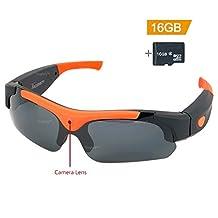 Toughsty™ 16GB 1920 x1080P HD Eyewear Hidden Camera Sunglasses with Photo Taking Function