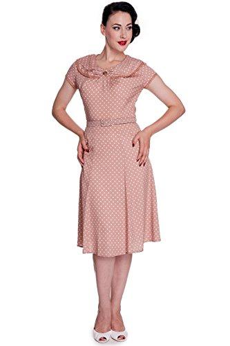 Hell-Bunny-Ingrid-50s-Pin-Up-Vintage-Rockabilly-Latte-Polka-Dot-Dress