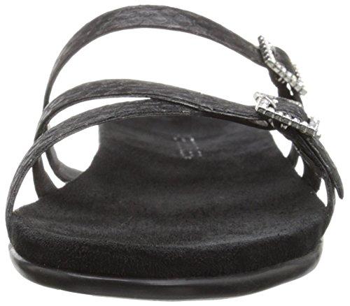 Aerosoler Kvinners Plate E Business Sandal Black Snake ...