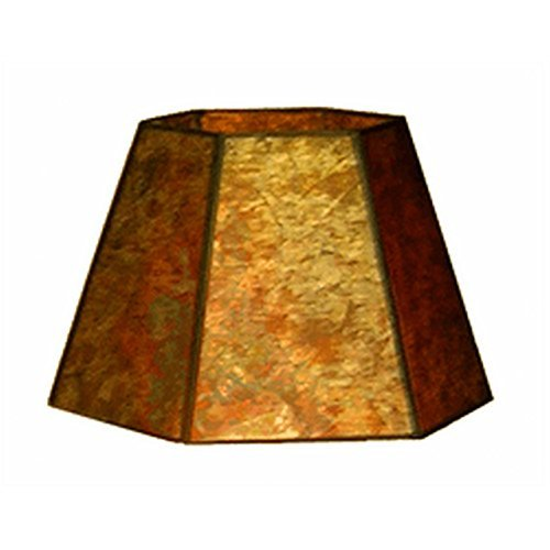 Upgradelights 10 Inch Clip On Hex Mica Lamp Shade Replacement (6x10x7)