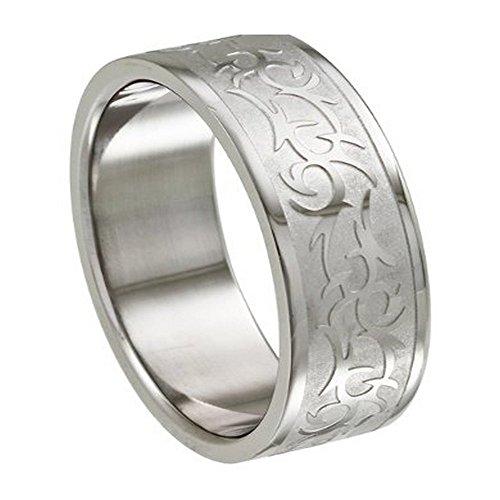 Intricate Design Ring (Men's Intricate Tribal Laser Design Ring Size 8-14)
