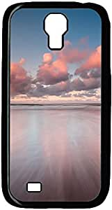 Beautiful Pink Clouds Over Sea Designed Pattern Protevtive Hard Back Case Cover for Samsung Galaxy S4 I9500