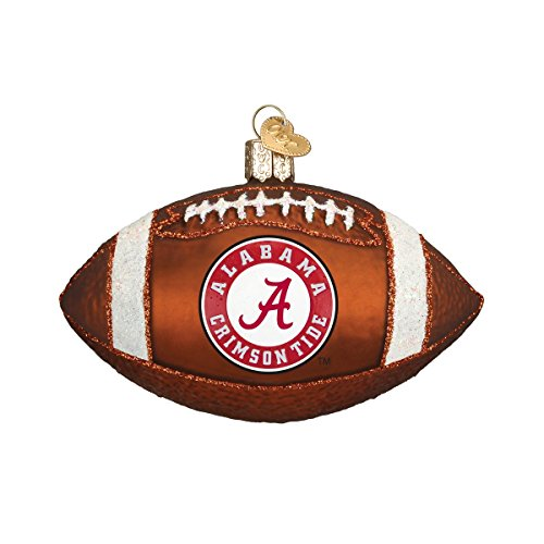 Old World Christmas Ornaments: Alabama Football Glass Blown Ornaments for Christmas Tree