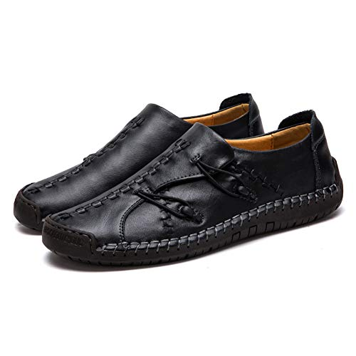 Classic Mens Moccasin - Men's Casual Loafers Driving Shoes Oxfords Comfortable Stitching Sneaker Penny Classic Moccasins Formal Walking(6.5-7 M US,26 cm Heel to Toe Black