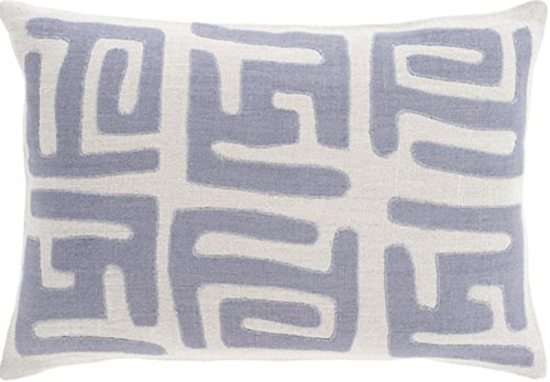 13'' x 19'' Tribal Rhythm Taupe and Elephant Gray Decorative Throw Pillow-Down Filler by Diva At Home