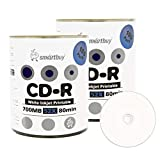 Smartbuy 700mb/80min 52x CD-R White Inkjet Hub Printable Blank Recordable Media Disc (200-Disc)