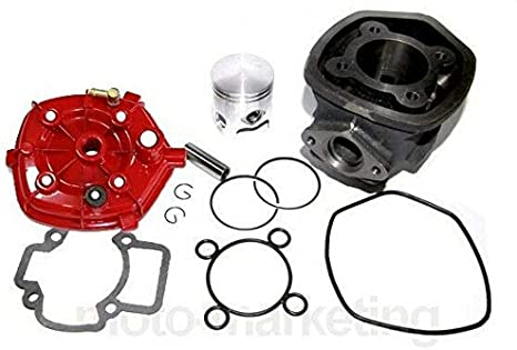 Untimero 70 Ccm Sport Racing Cylinder Kit Head Complete For Piaggio Nrg 50 Mc3 Power Cylinder Kit Auto