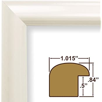 15x25 picture poster frame smooth finish 1 wide shiny white fw177wh