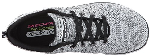 Skechers Flex Appeal 2.0 High Energy - Zapatillas Mujer White/Black Knit