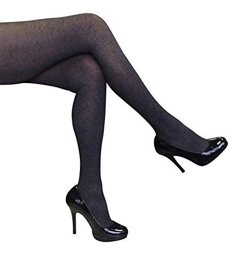 画家天使パーセントLadies Sock Snob 80デニール不透明MarlタイツXX大52インチ- 60 cmヒップダークグレー