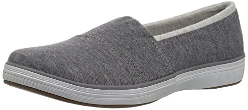 Grasshoppers Mujeres Siesta Slip-on Fashion Sneaker Charcoal Jersey