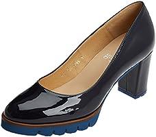 Gadea Charol, Zapatos de Tacón con Punta Cerrada para Mujer, Azul (Baltico), 38 EU