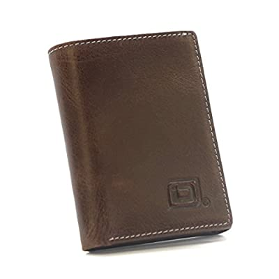ID Stronghold RFID Blocking Trifold Wallet for Men - Genuine Rugged Leather