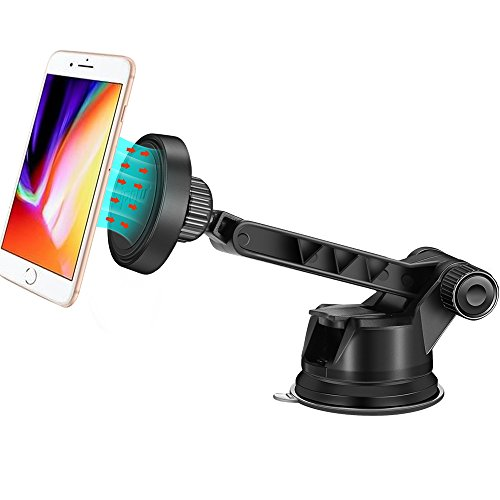 IPOW Magnetic Windshield Dashboard Car Mount Adjustable Stur