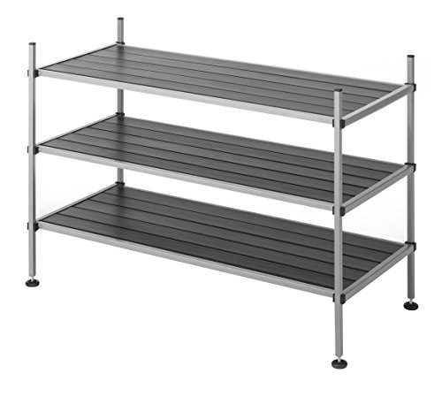(Whitmor 3 Tier Closet Storage Shelves -  Shoe Rack and Home Organizer)