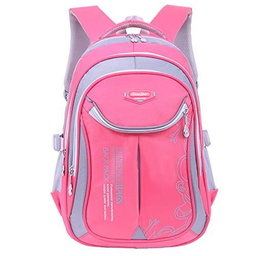 Ladyzone Camo School Backpack Lightweight Schoolbag Travel Camp Outdoor Daypack Bookbag for Your Children (Pink ZM)