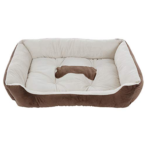 Sonmer Rectangle Pet Bed for Dogs and Cats, Soft Plush Ped Cuddler for Small to Medium Dogs and Cats, 28