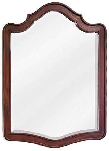 (Lyn Design MIR081 Philadelphia Refined Collection Arched 26 X 24 Inch Bathroom Vanity Mirror, Chocolate)