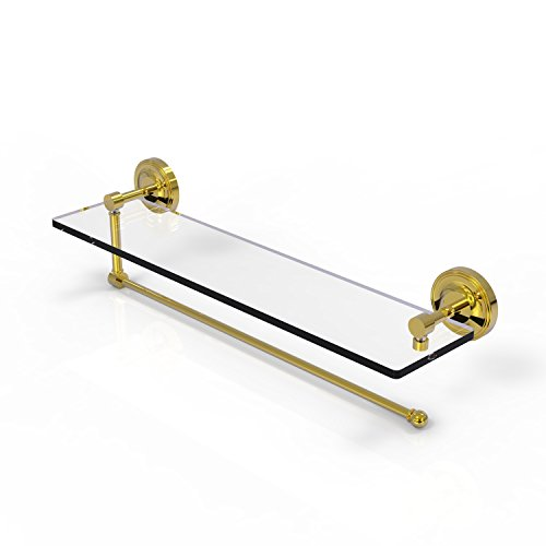 Allied Brass Prestige Regal Collection Paper Towel Holder with 22 Inch Glass Shelf PRBP-1PT/22 - Unlacquered -