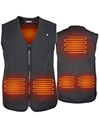 ARRIS Heated Vest Size Adjustable Heating Jacket for Outdoor Motorcycling Fishing etc