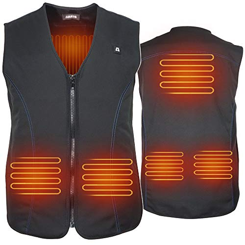 ARRIS USB Electric Heated Vest, 5V Size Adjustable Rechargeable Heated Clothing for Fishing Hunting Hiking Camping