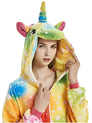 Adult Onesies Women Girls Unicorn Costume Halloween Christmas Animal Pajamas