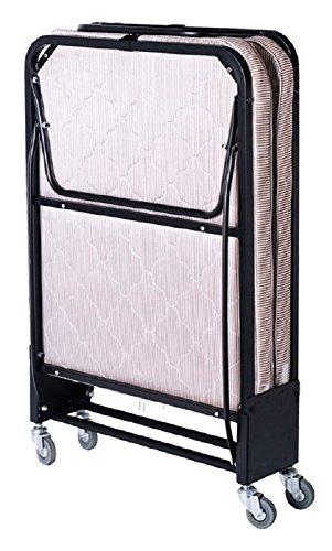 AMENITIES DEPOT Premium Steel Frame Luxurious Folding Guest Bed with Foam Mattress(2300)