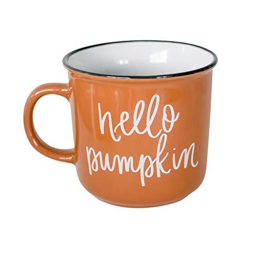 Cute Pumpkins For Halloween (Hello Pumpkin Mug Fall Mug Autumn Mug Campfire Coffee Mug Orange Coffee Gift Decorations Pumpkin Spice Halloween Autumn Themed Morning Pumpkin Cup Basic PSL Womens Cute Mugs Pumpkin Spices)