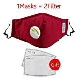 TSSPLUS PM2.5 Air Purifying Face Mask Muffle Carbon Filters Lot Dust Haze Fog Respirator