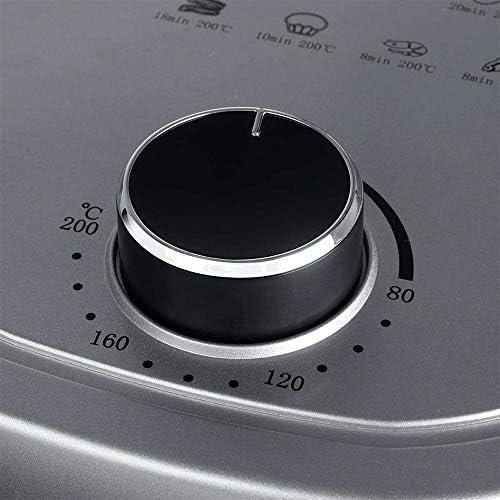 Freidora de aire, 2L aire caliente de freidoras Olla sin Aceite con doble perilla de control para una cocina sana, Hornear y asar, plástico,