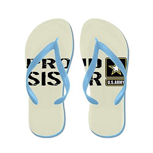 Esercito Di Noi Militari: Sorella Orgogliosa (sabbia) - Infradito, Sandali Infradito Divertenti, Sandali Da Spiaggia Blu Caraibico