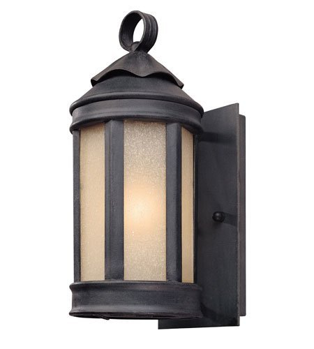 Wall Sconces 1 Light with Aged Iron Finish Hand Forged Iron Material Medium 5 inch Wide 100 Watts