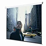 Safstar Electric Motorized Auto Projector Projection Screen With Remote Control Diagonal 100 Inch