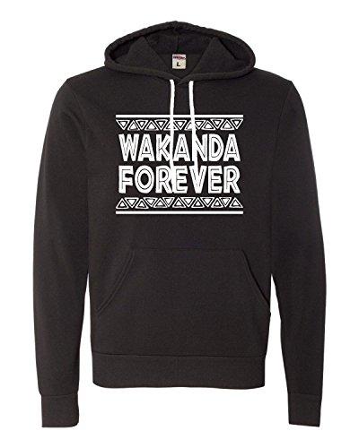Large Black Adult Wakanda Forever Deluxe Super Soft Sweatshirt Hoodie ()